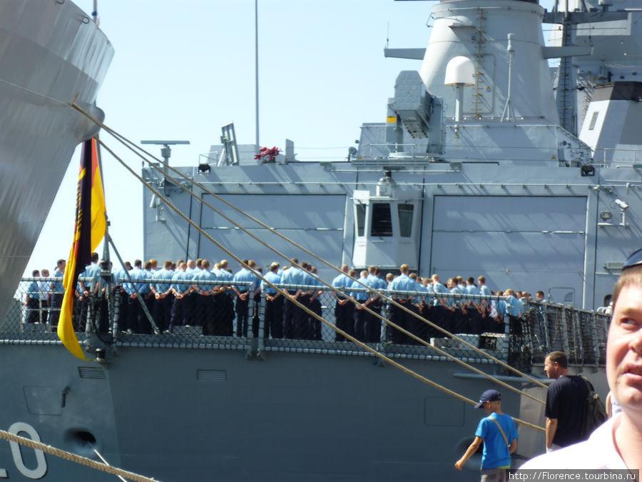 Построение на немецком корабле