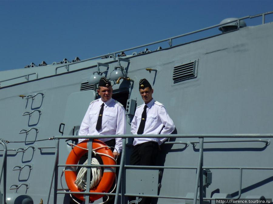 Росийские моряки