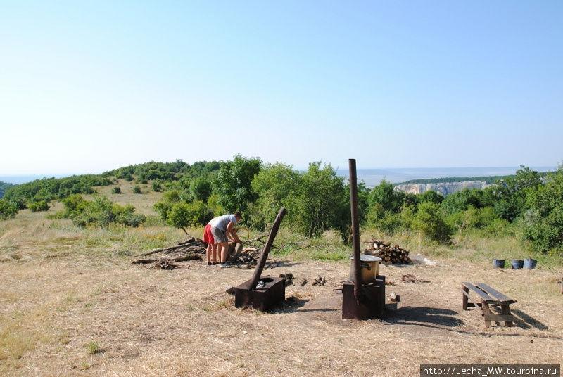 Лагерь археологов