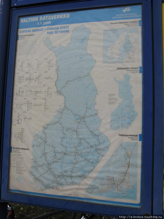 Железные дороги финляндии схема