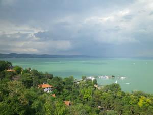 красивая панорама на озеро Балатон