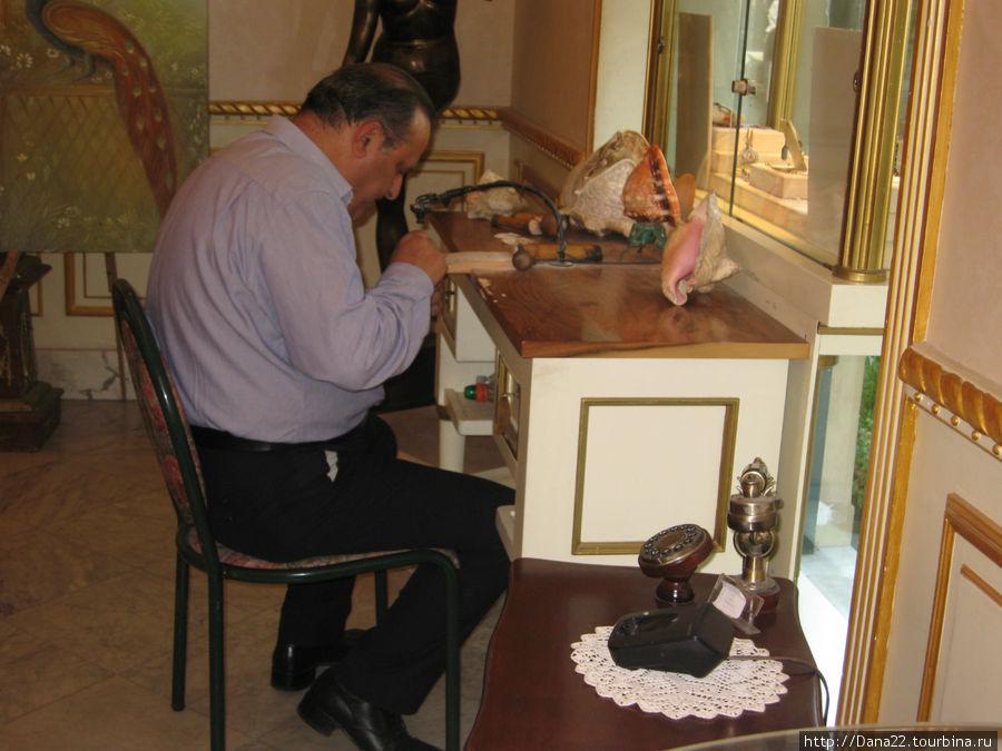 Изготовление камеи