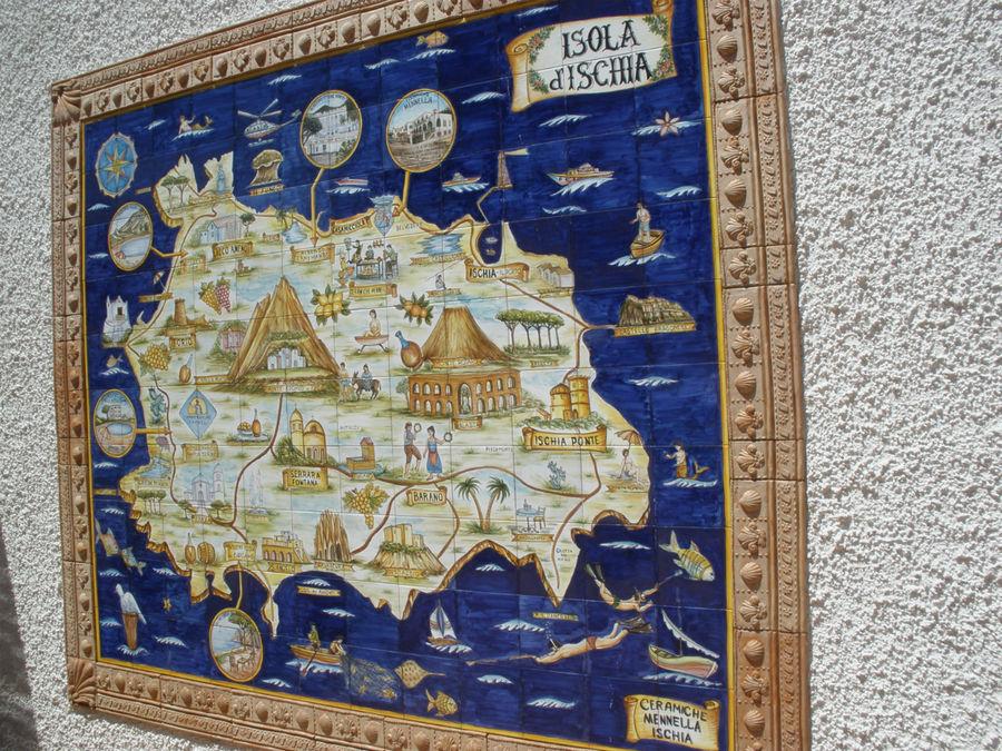 карта изумрудного острова Искья