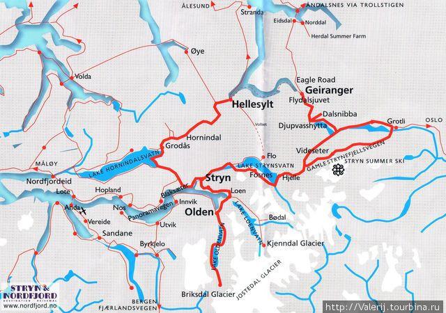 Схема маршрута