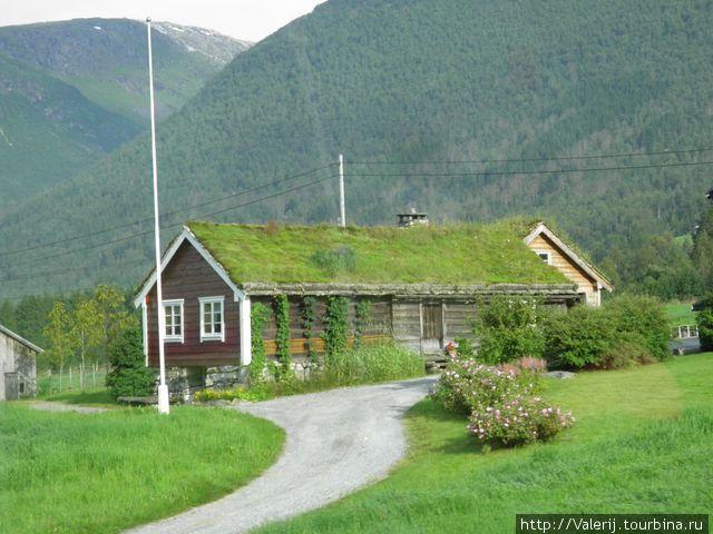 Традиционные крыши крытые дерном