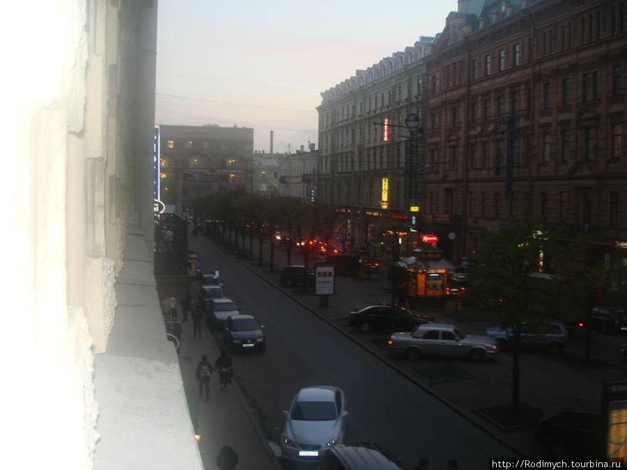 Вид из окна. Там впереди Невский