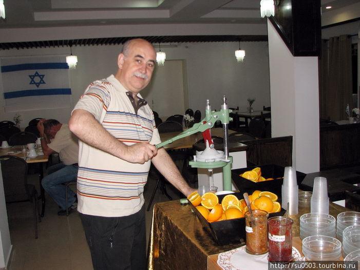 Апельсиновый фреш в отеле