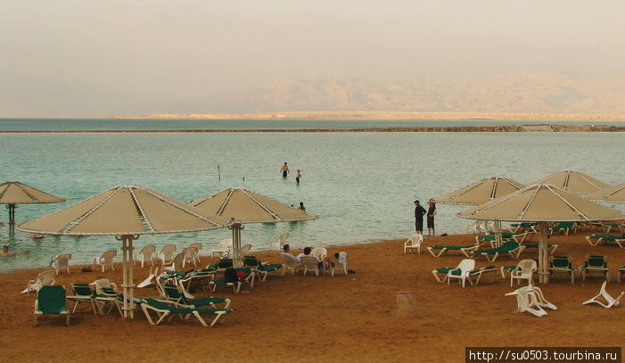 Берег Мертвого моря у оте