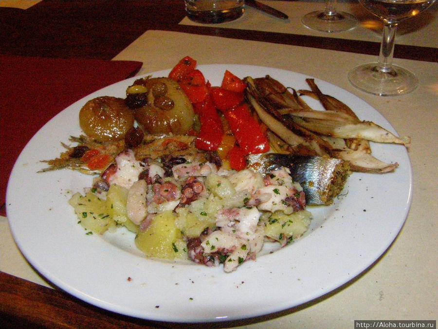 Горячая закуска — рыбное ассорти