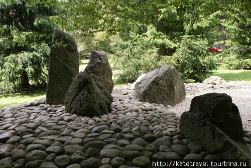 Японский сад камней карловы вары