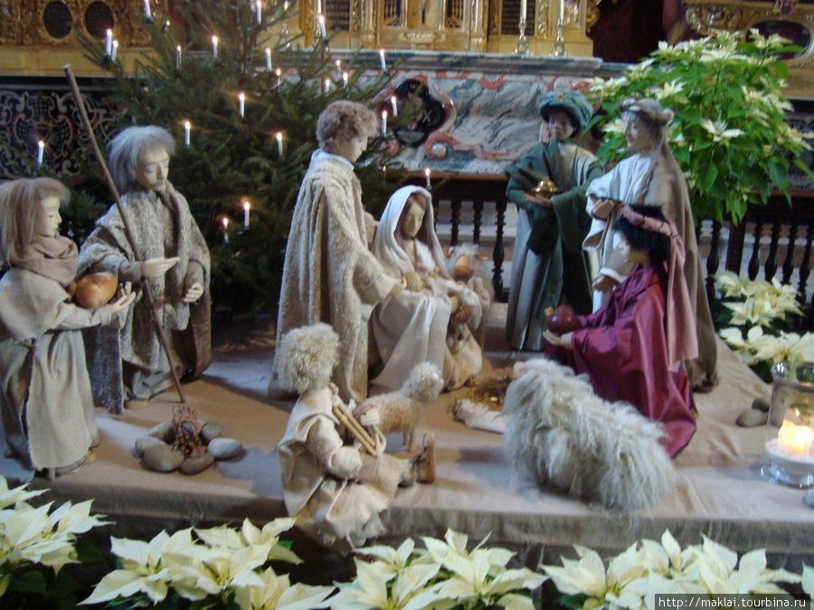 Люцерн. Церковь Хофкирхе. Рождественская сценка.