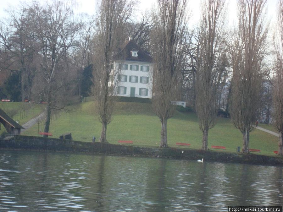 Вилла Трипшён, где жил Р.Вагнер.