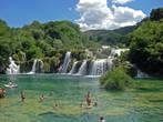 Нижний каскад водопадов реки Крка