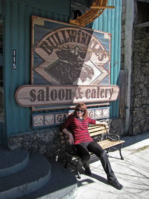...поели в лучшем салуне города Bullwinkle's