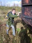 Вагоны можно катать На фото — Алдис Баскерс, житель Латвии, г.Валмиера