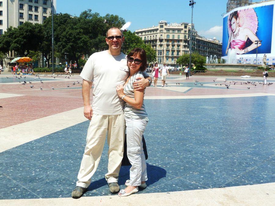 На площади Каталонии