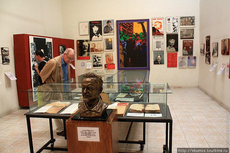 Внутри музея Троцкого пах