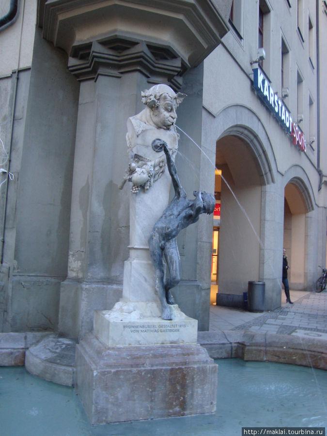 Мюнхен. Один из многочисленных городских фонтанов