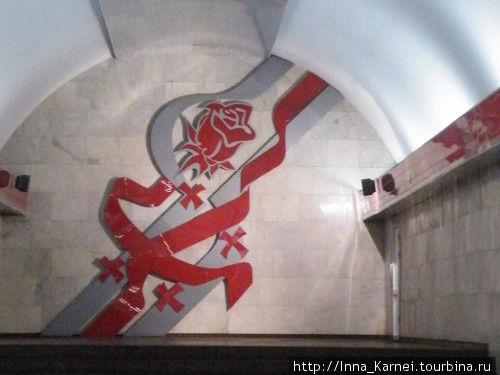 Обновленный дизайн станции Тависуплебис моэдани после революции роз