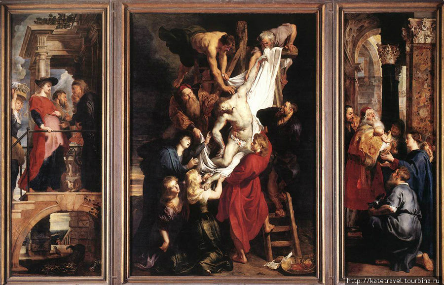 Триптих «Снятие с креста» Рубенса