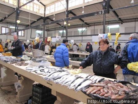 Рыбный рынок в Сплите.