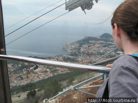 Вид на Дубровник из фуникулера.