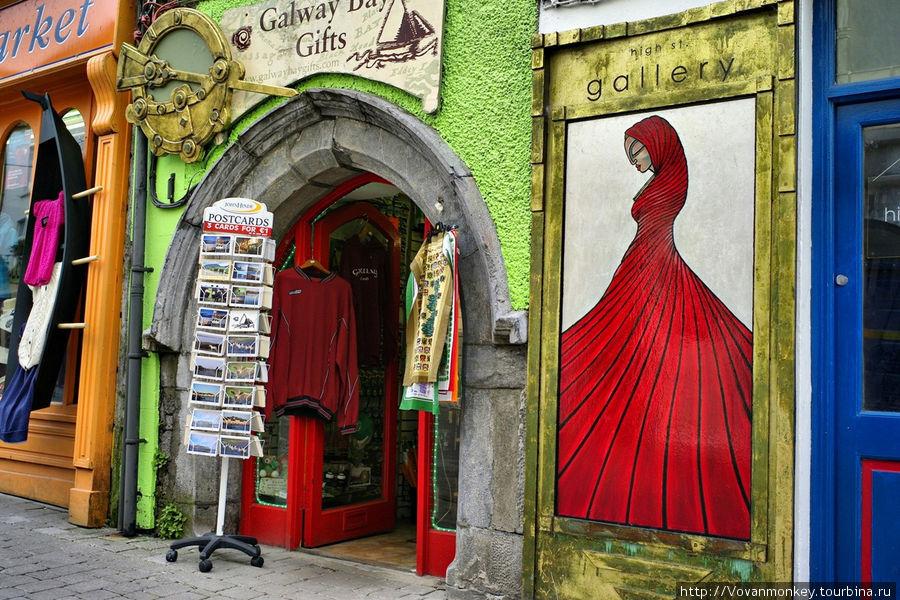 На Quay street Голуэй, Ирландия