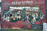 Пуб Sally Long — шикарнейшее, просто потрясающее объёмное граффити. Хотелось стоять и изучать каждую деталь.