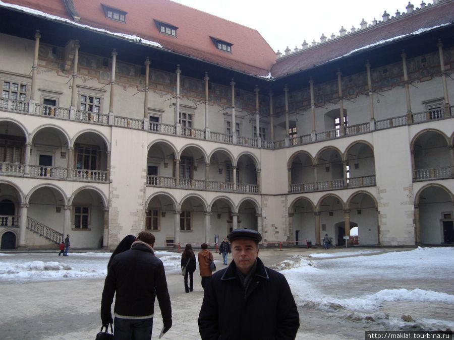 Краков. Внутренний двор Вавельского замка.