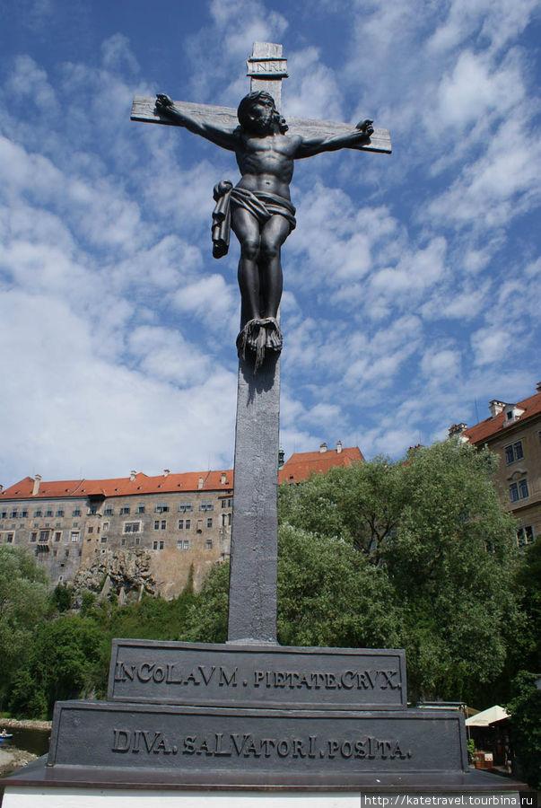 Скульптура на Лазебницком (Банном) мосту