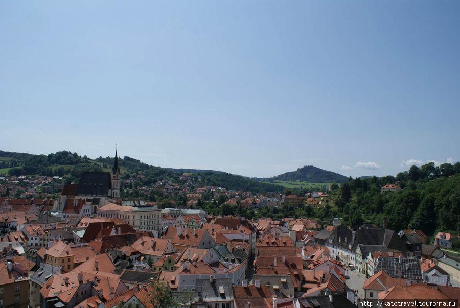 Чешский Крумлов: панорама