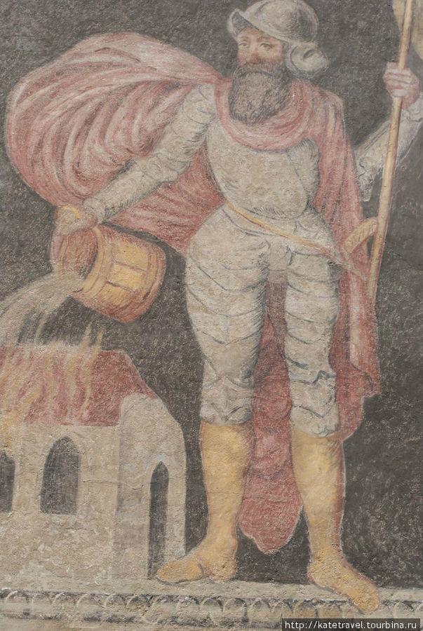 Настенный образ Святого Флориана