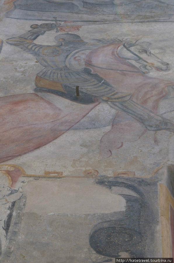 Настенное изображение «Рожмберкский всадник». Улица Латран, дом №39