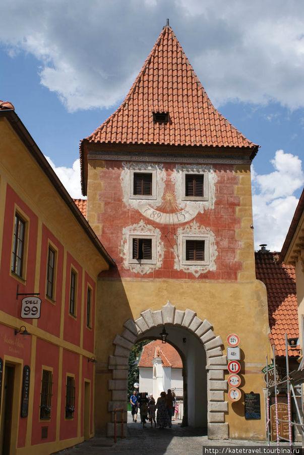 Будейовицкие ворота (внутренняя сторона)