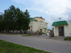 Вход на территорию районной больницы.