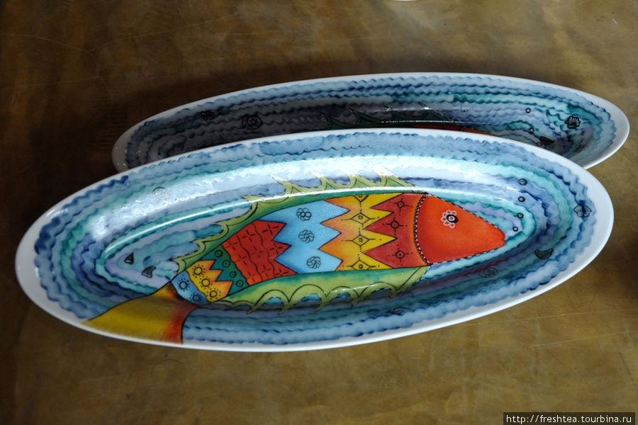 Блюда с рыбами.