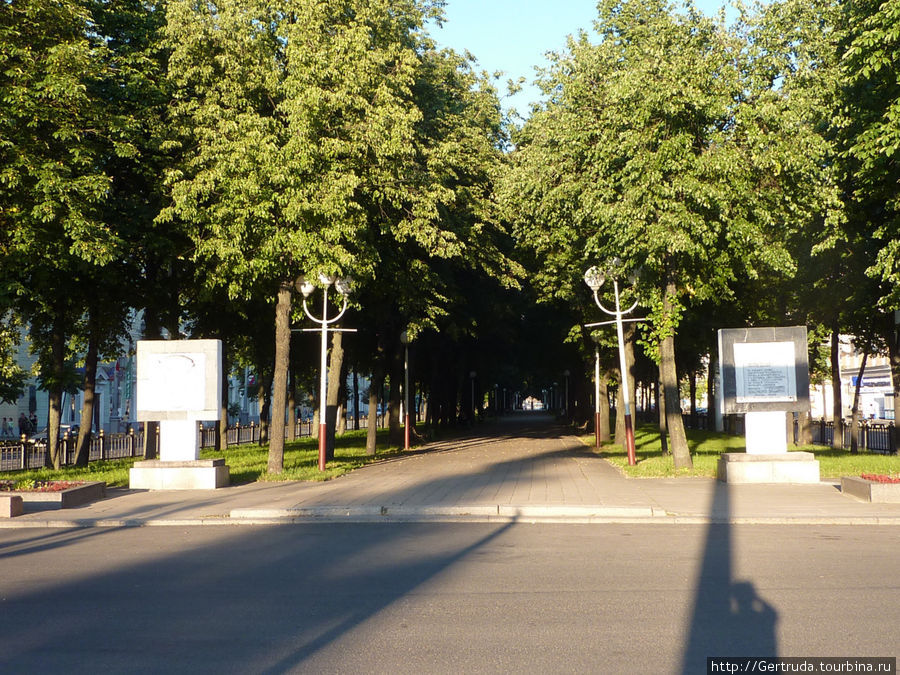 Бульвар в центре улицы Кирова.