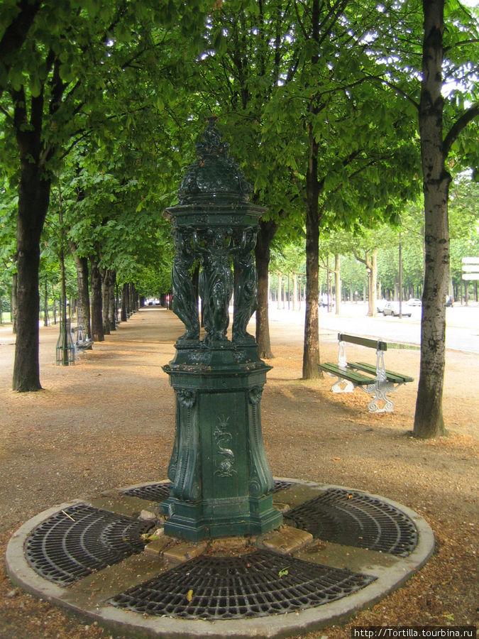 На Елисейских полях в Париже