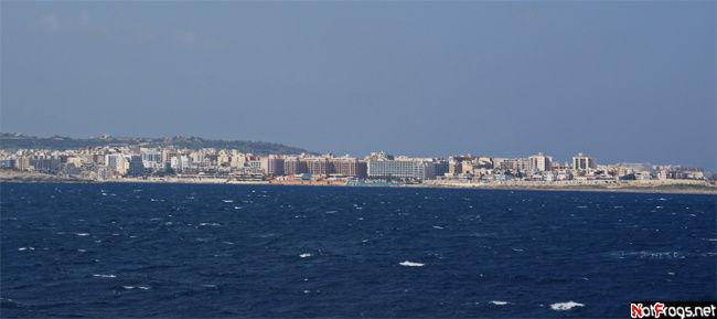 Панорама города Буджибба, остров Мальта