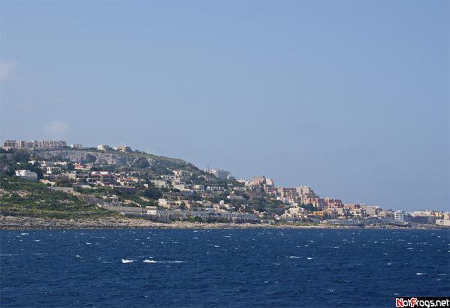 Вид на город Меллиеха, остров Мальта