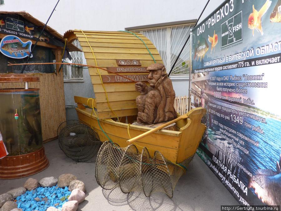 Рекламируют продукцию рыболовецкого хозяйства.
