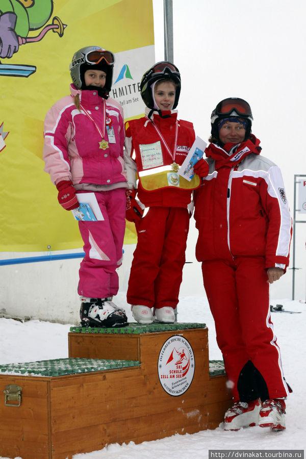 Награждение в горнолыжной школе