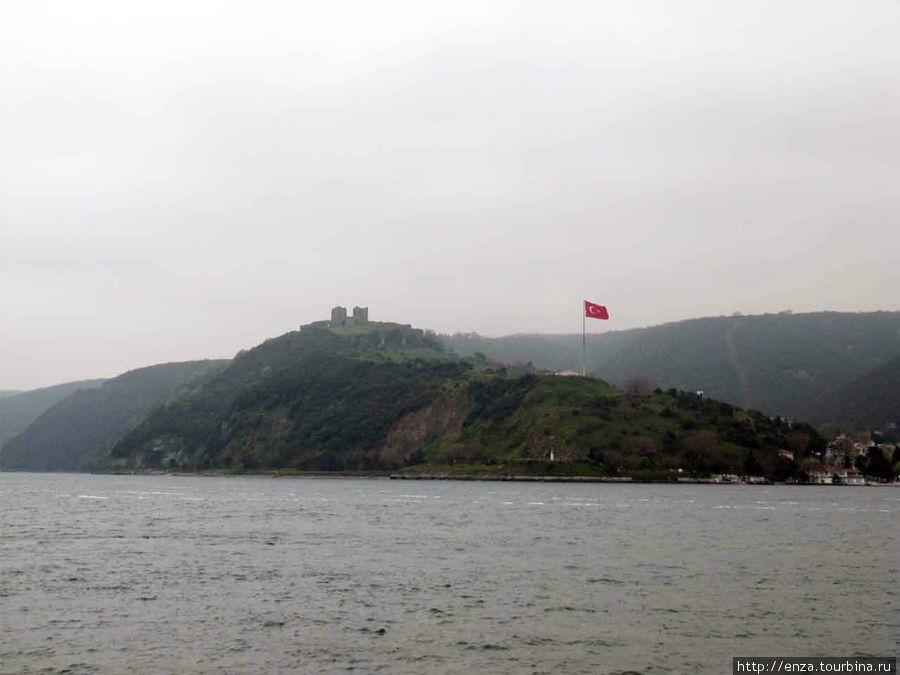 Руины замка Йорос смотрят