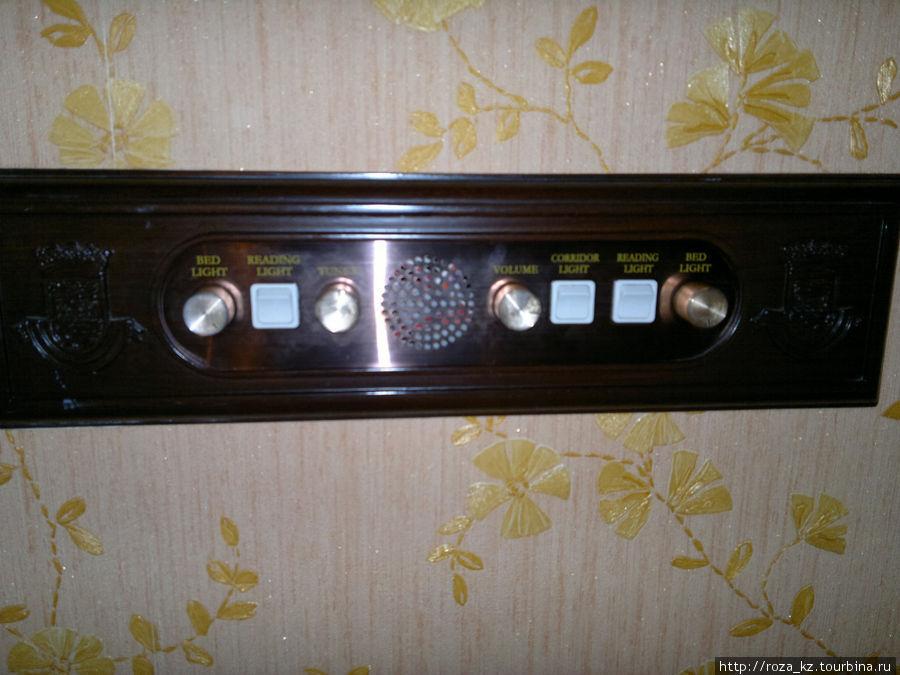 пульт управления светом и радио (1 канал со спокойной музыкой)