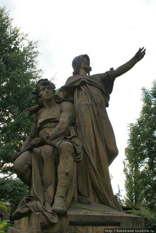 Памятник Либуше и ее мужу Пршемыслу