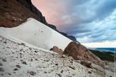Белая дюна на закате многим напоминает мороженное
