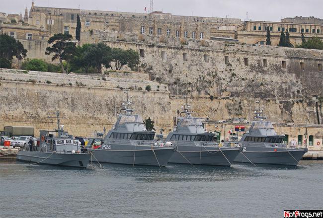 Часть сторожевого флота Мальты