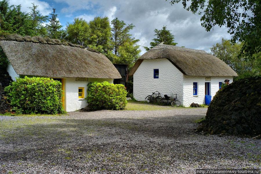 Реплика ирландской деревни 18 века.