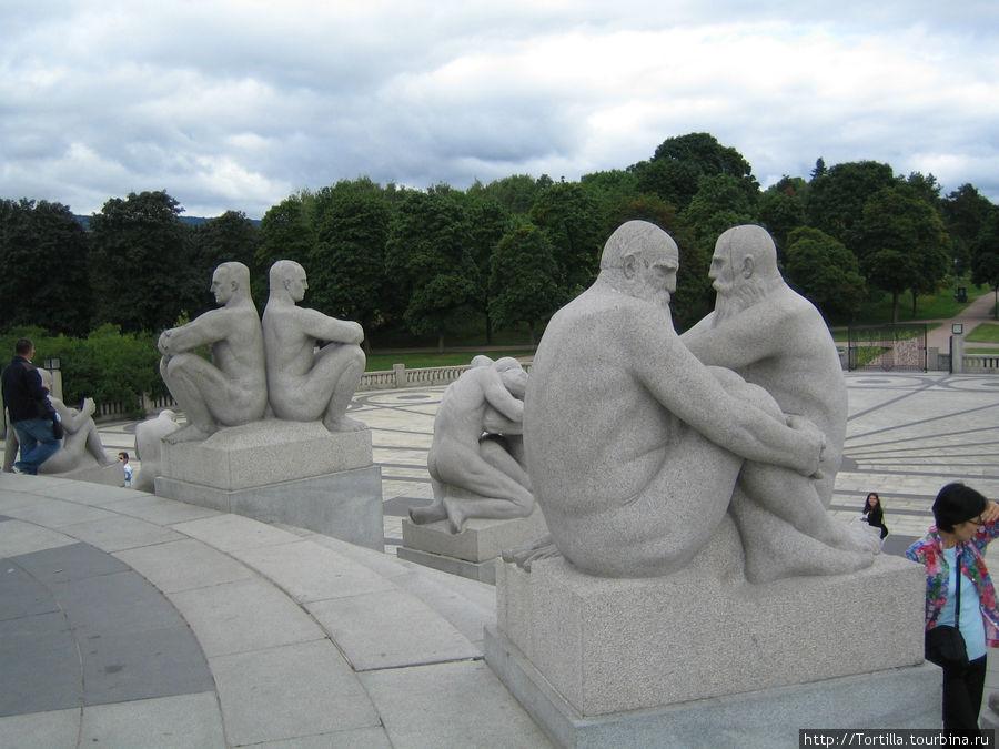 Норвегия. Осло. Парк скульптур Вигеланд