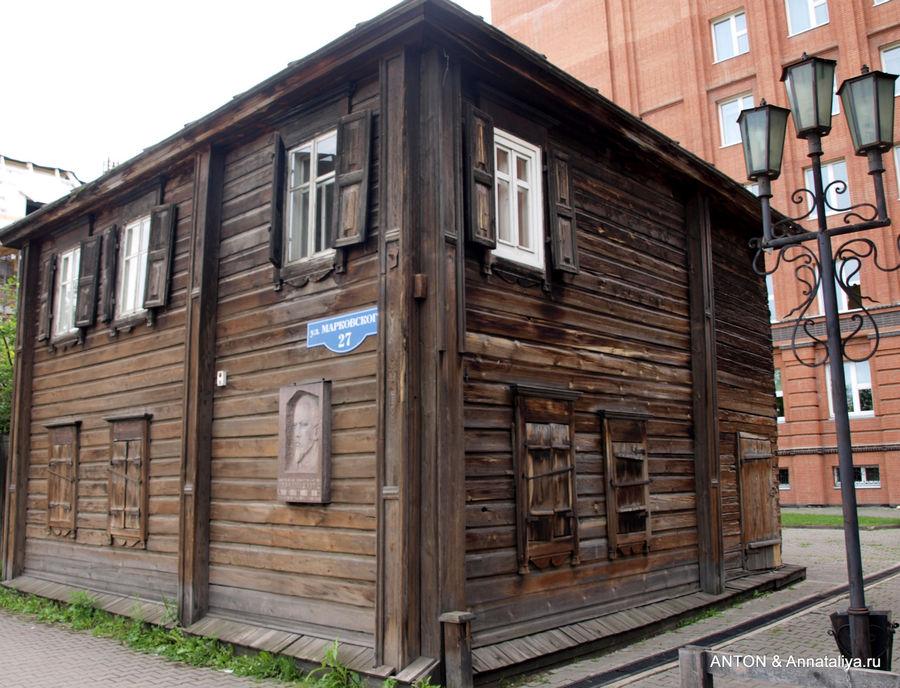 Дом, где в ссылке жил Ленин.